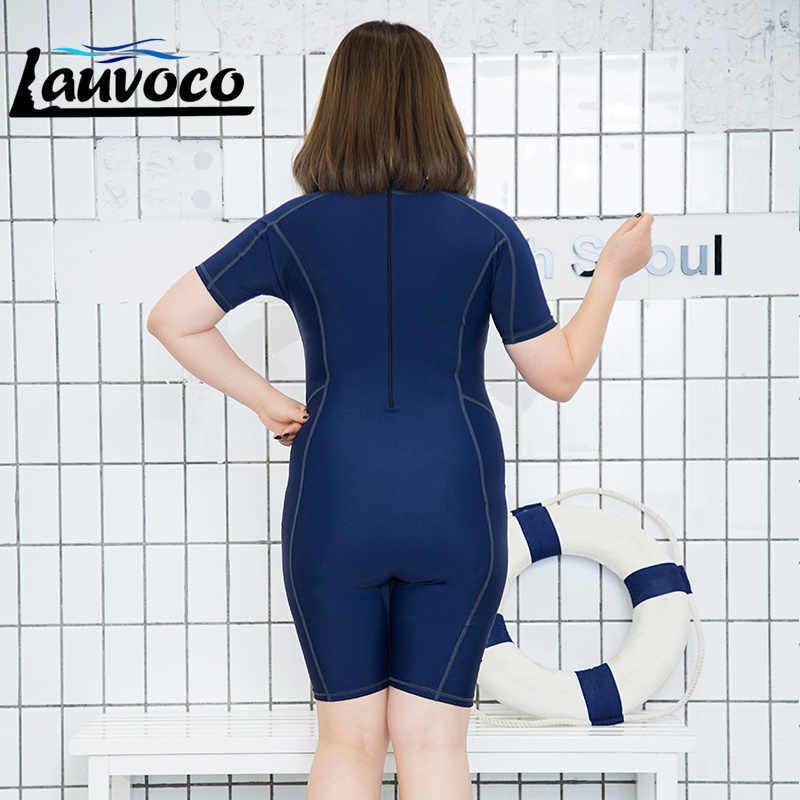 Satu Potong Pakaian Renang Wanita Plus Ukuran Baju Renang Ukuran Besar Wanita Olahraga Pakaian Renang Surfing Cocok untuk Balap Profesional Baju 6XL