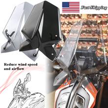 Szyba przednia motocykla do KTM Duke SX RC 125 390 2017 2018 2019 2020 deflektor wiatrowy do przedniej szyby z uchwytem tanie tanio LJBKOALL CN (pochodzenie) 40 4cm High quality ABS Plastic Do motocykli KTM 0 86kg 32 5cm for KTM Duke SX RC 125 390 2017 2018 2019 2020