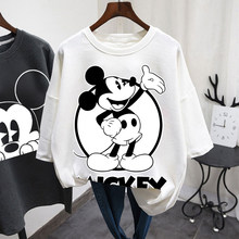 Disney cartoon Mickey T-shirt Tops Sommer casual übergroßen Frauen T-shirts Ulzzang hip hop Streetwear Harajuku kurzarm t-shirt