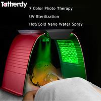 7 Color PDT Photon Skin Rejuvenation Electroporation Led Therapy Facial Mask Hot Cold Nano Water Spray Beauty Skin Care Machine