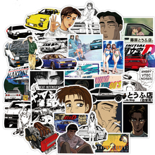 10/30/50PCS Initial D Stickers Laptop DIY Fridge Guitar Luggage Skateboard Phone Car Bike Waterproof Graffiti Sticker Kid Toys