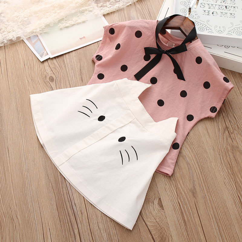 H1f3fd9531a0e44b7b7b4e22cee80412bt - Humor Bear Baby Girl Clothes Hot Summer Children's Girls' Clothing Sets Kids Bay clothes Toddler Chiffon bowknot coat+Pants 1-4Y