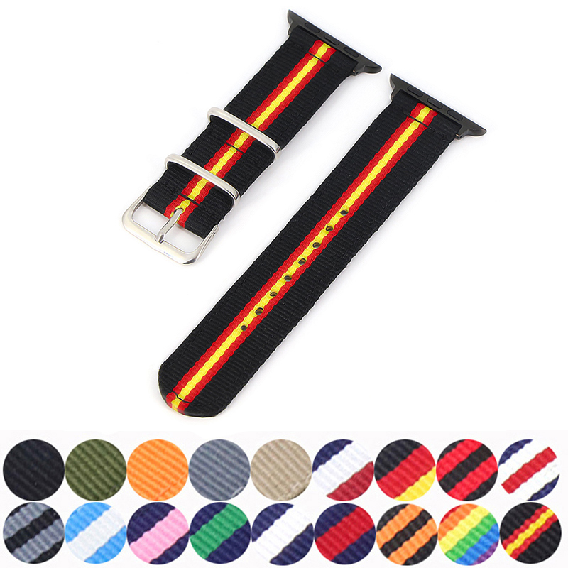 Strap For Apple Watch Band Apple Watch 4 5 3 Band 44mm/40mm  Iwatch Band 5 42mm 38mm Correa Pulseira Nylon Watchband