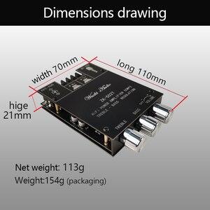 Image 4 - Kỹ Thuật Số TPA3116D2 Bluetooth 5.0 Siêu Trầm Bảng Mạch Khuếch Đại 2.0 Kênh Công Suất Âm Thanh Khuếch Đại Âm Thanh Nổi Ban 2*50W Bass AMP ZK 502T