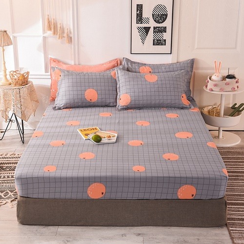 (New On Product) 1pcs 100% Cotton Printing bed mattress set with four corners and elastic band sheets(pillowcases need order) 16
