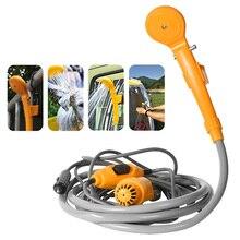 휴대용 자동차 샤워 세척 도구 12V 세차 펌프 물통에서 캠핑 여행을위한 꾸준한, 부드러운 샤워 스트림으로 물