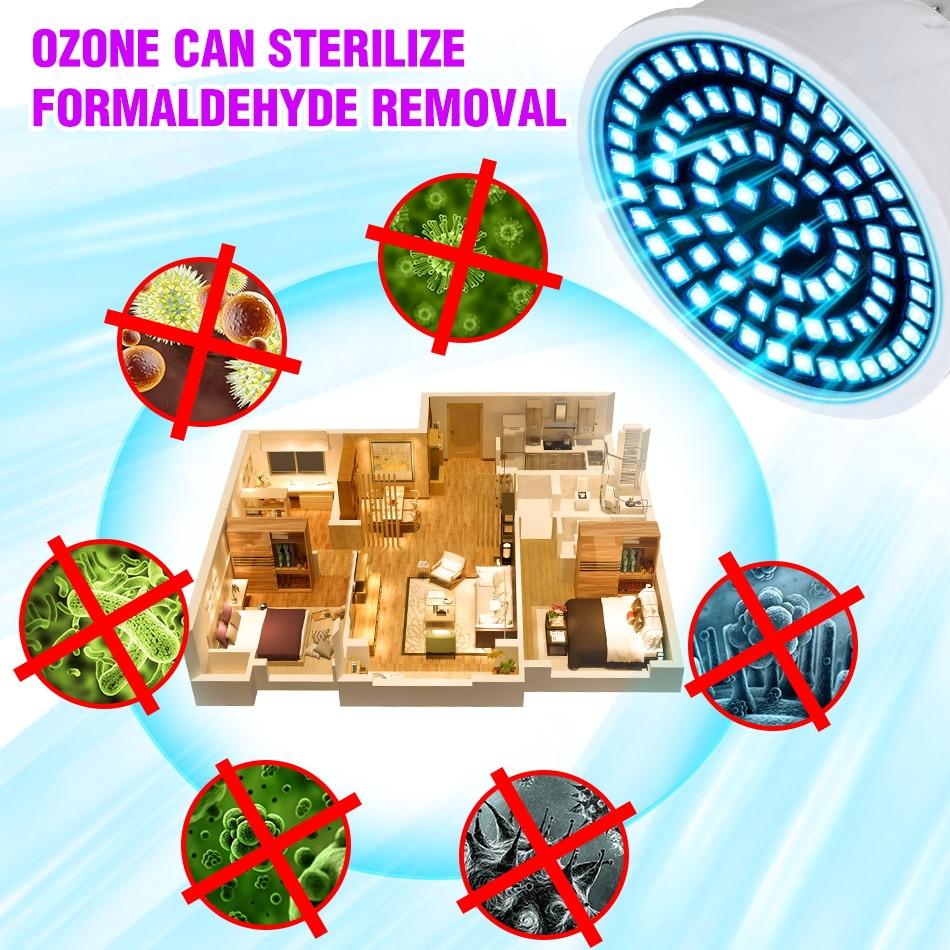 E27 Ultraviolet LED Disinfection Lamp E14 Germicidal Lamp MR16 220V Amuchina UVC LED Bulb GU10 LED UV Light Virus Lamp B22 240V