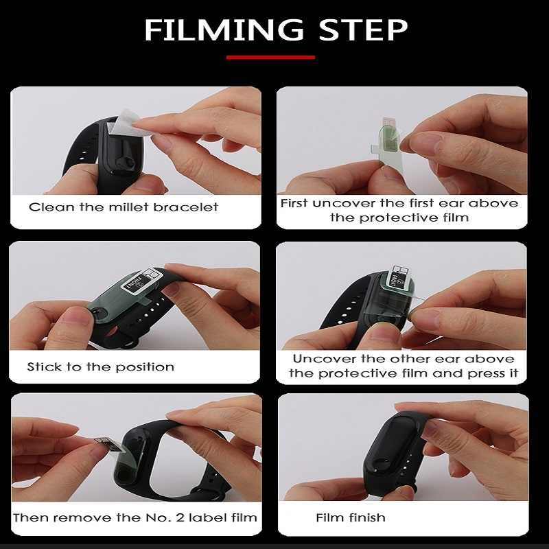 1/2/3/4/5 pièces Film Protecteur D'écran pour Xiao mi mi Bande 4 Bracelet Intelligent Bracelet Films Protecteurs anti-rayures pour mi Bande 4