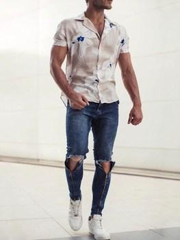 Brand 2019 New Men's Fashion Jeans Business Casual Stretch Slim Jeans Classic Trousers Denim Pants Male Black Blue28-40 фото