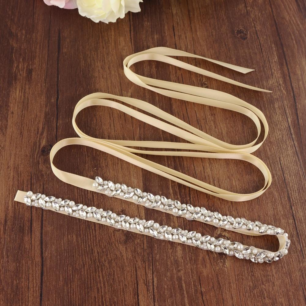 TRiXY S383-S Women's Diamonds Wedding Belts Rhinestone Wedding Dress Belt Sashes Wedding Accessories Bridal Sash Belt