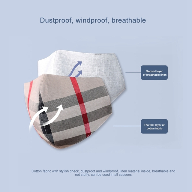Cotton Mask Unisex PM2.5 Washable Face Masks Reusable Mouth Mask Breathable Masks Health Care Safe Breath Mask 2