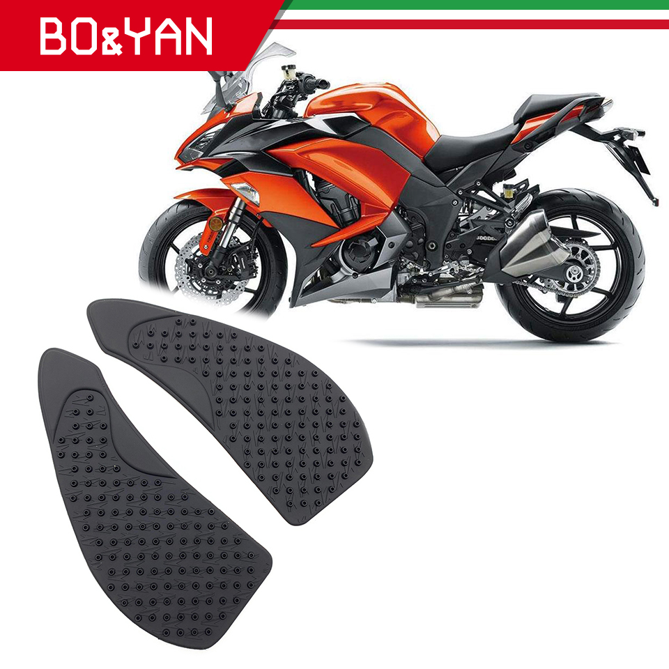 Motorcycle Gas Tank Pad Traction Side Pads Gas Fuel Knee Grip Decal Protector For Kawasaki Z1000SX 2010-2015
