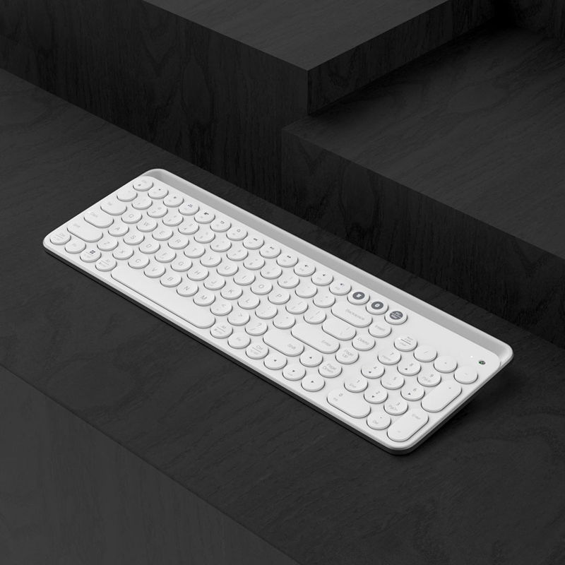 Bluetooth Dual-Mode Keyboard Mwbk01 104-Key 2.4Ghz Multi-System Compatible Wireless Portable Keyboard