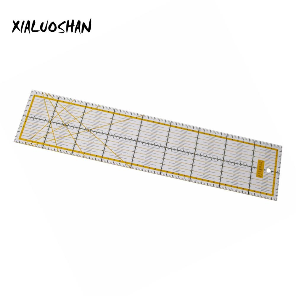 1Pc 10*45*0.3 Cm Transparent Drawing Straight Ruler Patchwork Acrylic Rulers Sewing Foot Drawing Tools Office & School Supplies