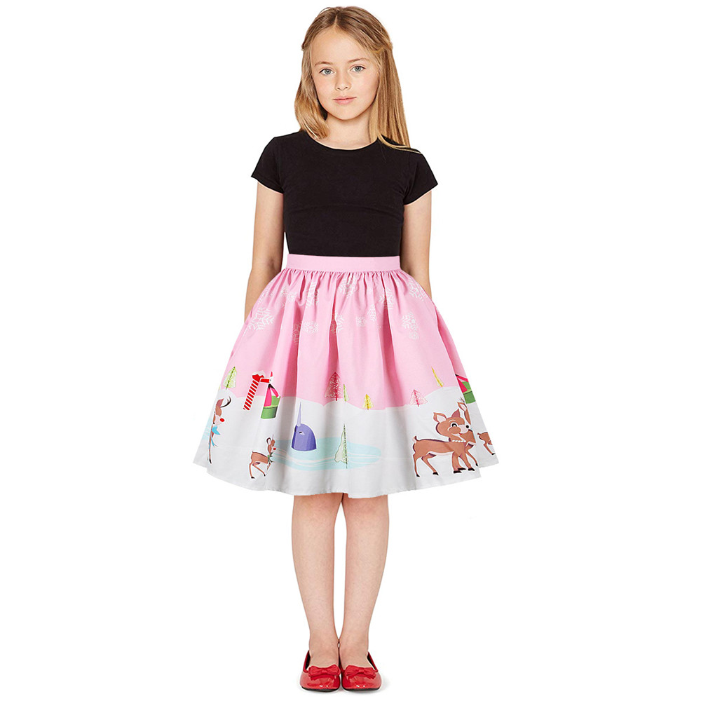 Christmas Girls Dress Teens Girls Party Dresses For Girls Family Matching Outfits New Year Mom Daughter Dresses Carnival Dress (9)