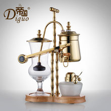 Golden alcohol lamp High-grade Coffeware Sets Steam brewing coffee Classic Alcohol Light Siphon Coffee Machine Home Gift tea pot(China)