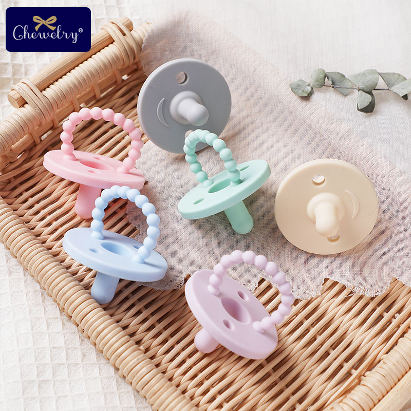Infant Nipple Pacifier Pendant BPA Free Teething Toys Baby Silicone Teether Nursing Accessories Gift Children's Products Toys