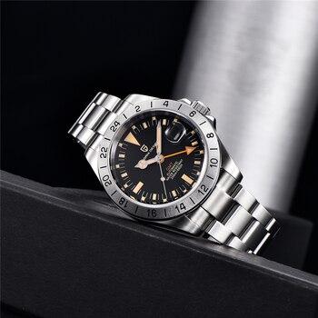 2021 New PAGANI DESIGN Men Automatic Mechanical Watch Classic Retro GMT Watch Stainless Steel 200m Waterproof Clock Reloj Hombre 3
