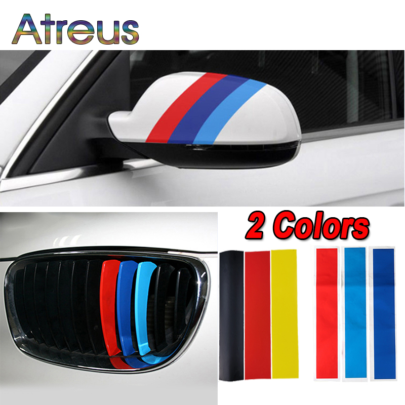 3pcs Germany/M color Kidney Grille Stickers Sport Stripe For BMW E90 E91 E92 E93 E87 F30 F10 E39 E36 E30 E46 E60 F20 E87 E81 F34