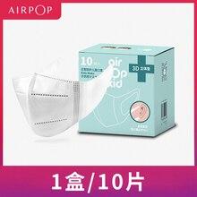 En Stock, nueva Máscara para niños Youpin Airpop, máscaras para chico, máscara antivaho, protección transpirable, desgaste del aire, máscara facial para niños y niñas, 10 Uds.