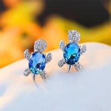 Роскошные женские серьги с радужными кристаллами винтажные Свадебные