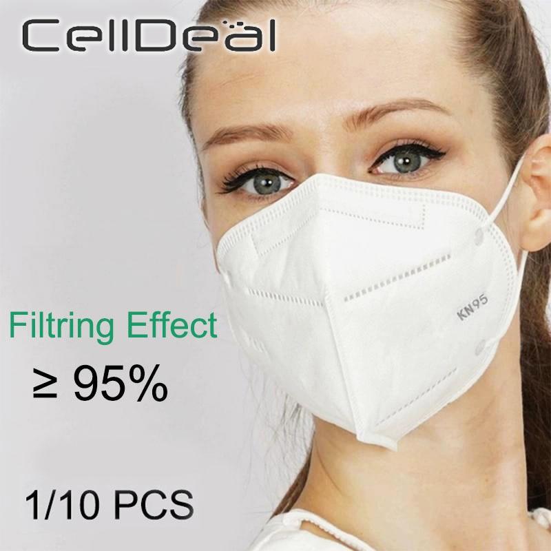 1/10PCS KN95 Dustproof Anti-fog And Breathable Mouth Face Masks 95% Filtration N95 Respirator Masks Same As KF94 FFP2 PM2.5