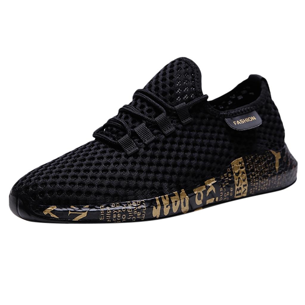 ساجاتشي موضة أحذية رياضية الرجال شبكة تنفس أحذية رياضية حذاء كاجوال الرجال خفيفة الوزن عدم الانزلاق أحذية رياضية الدانتيل متابعة الخياطة جديد