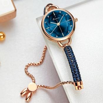 KIMIO Diamond Bracelet Women's Watches Bandage Crystal Watch Women Brand Luxury Female Wristwatch Dropshipping 2021 New Arrivals 1