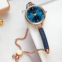 Женские наручные часы kimio браслет с бриллиантами кристаллами
