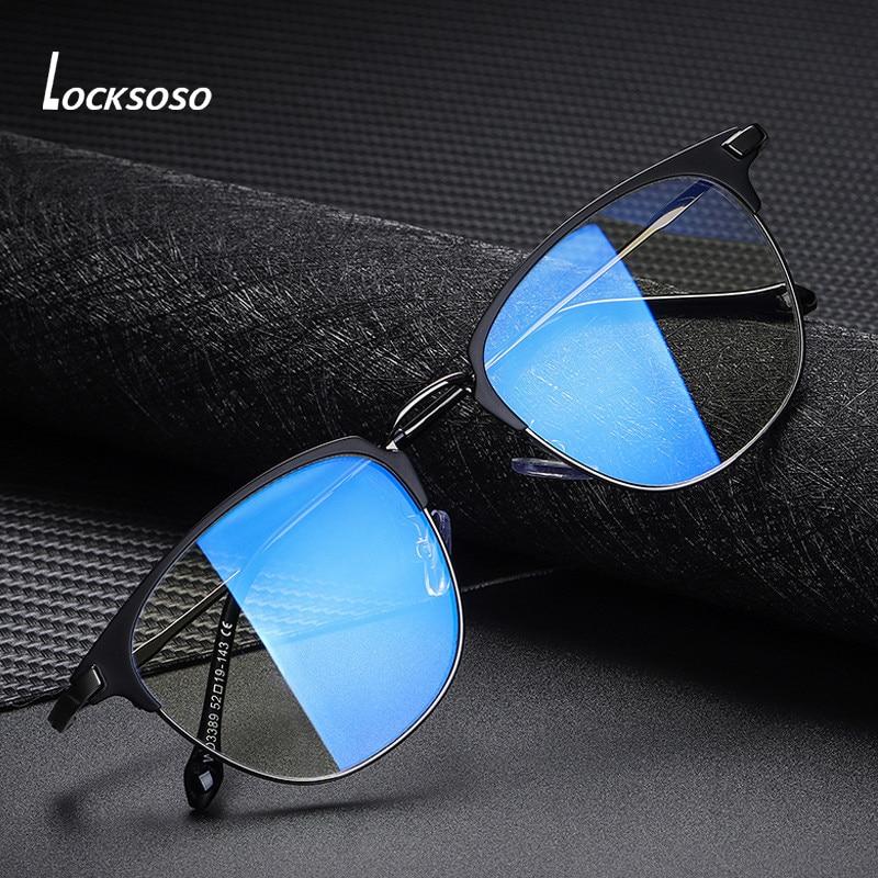 Очки LOCKSOSO с защитой от сисветильник для мужчин и женщин, очки для компьютерных игр с защитой от излучения, блокирующие Синие лучи, очки, очки