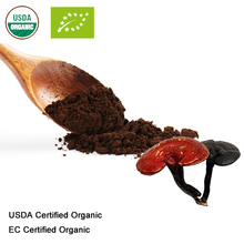 USDA และ EC Certified Organic reishi SHELL หักผงสปอร์เห็ดหลินจือสกัดแบคทีเรียผง