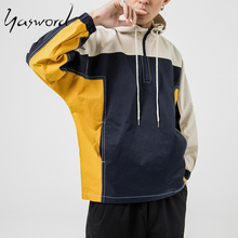 Yasword Embroidered Unique Design Men Casual Hoodies With Draw String Round Neck Sportswear Top Sweatshirt