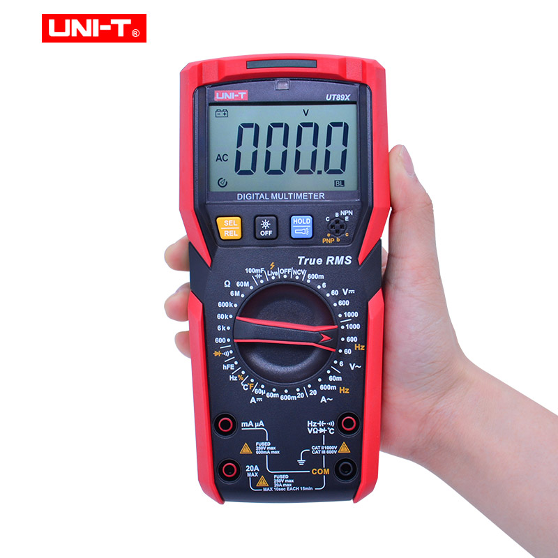 Capacitance AC Resistance NCV Digital 20A Professional EVA UT89X UT89XD Voltmeter Current BOX Tester True Multimeter RMS With DC