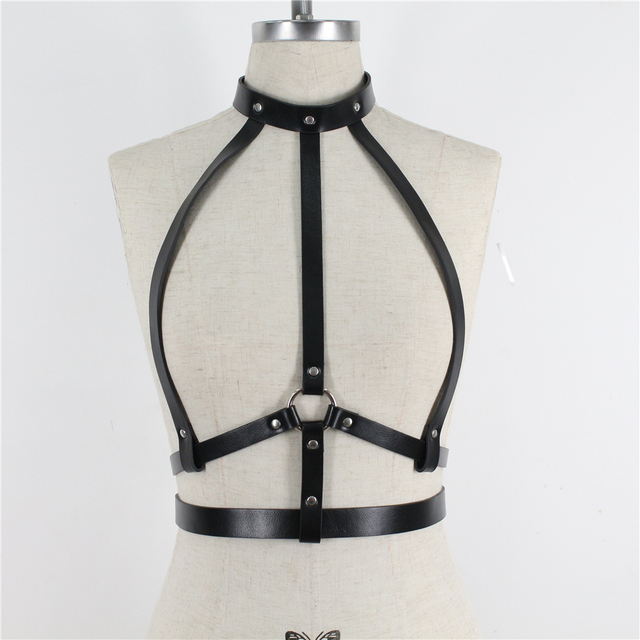 UYEE Women Suspenders Leather Harness Belt Body Bondage Jartiyer Sexy Women Harness Gothic Garter Belt Lingerie Harajuku Harness