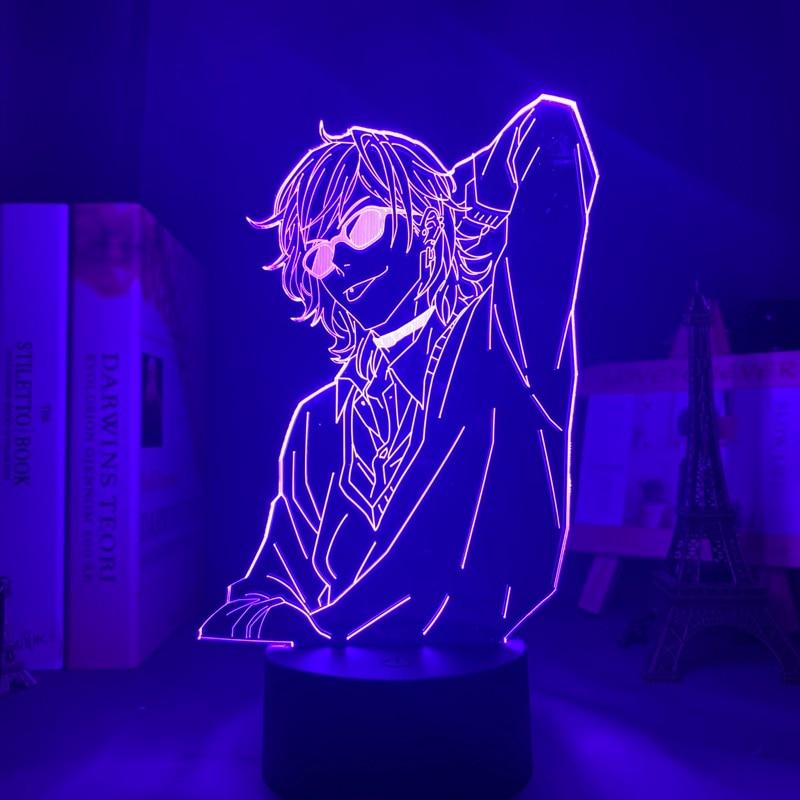 Акриловая 3d лампа BL аниме Yarichin, клубный светильник Yuri Ayato, ночсветильник Yarichin, Клубная лампа Yuri Ayato для декора кровати, комнаты