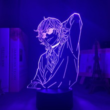 Acrylic 3d Lamp BL Anime Yarichin Bitch Club Yuri Ayato Light Night Light Yarichin Bitch Club Lamp Yuri Ayato for Bed Room Decor