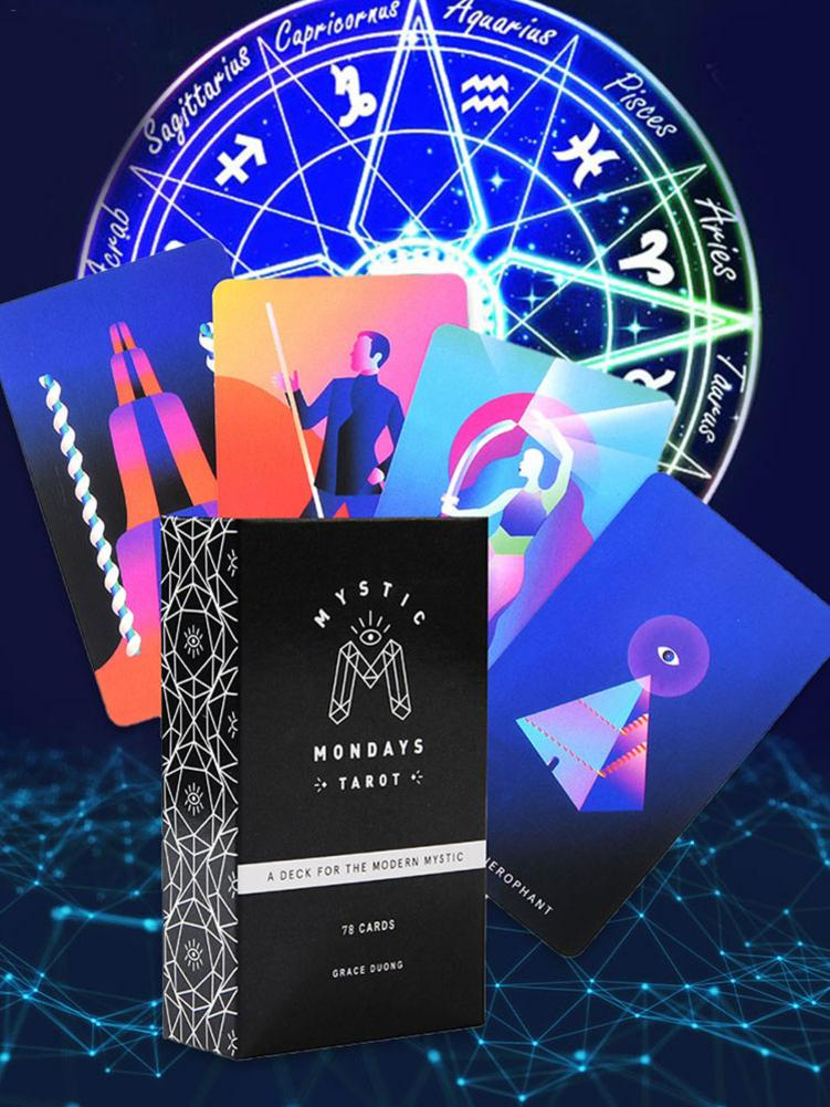78PCS Tarot Cards Deck Board Game Card Set And Guidebook Set For Mystic Mondays Tarot Party Table Games Family Entertainment