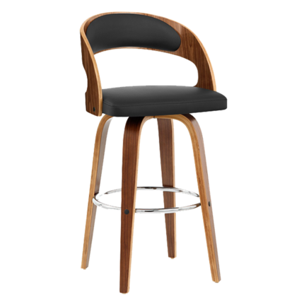 Nordic Solid Wood Bar Chair Backrest High Bar Stool Front Desk Cashier High Chair Home Swivel Chair