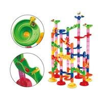 105 шт./компл. мраморные треки дошкольные развивающие игрушки детские цепи мраморный трек бегать лабиринт детская Строительная труба блоки д...