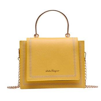 цена на Luxury Handbags Women Bags Designer Shoulder Bag Crossbody Bag for women 2019  Handle Stylish Chain Small Square Bag Tote Bag