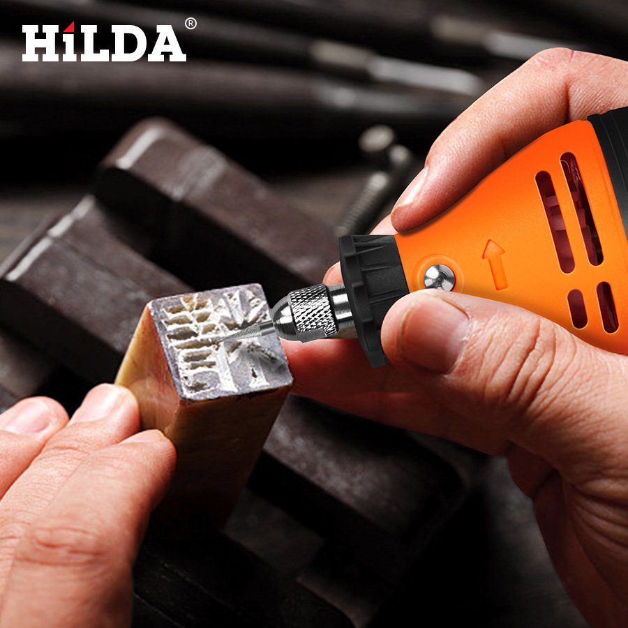 Image 5 - HILDA Electric Mini Drill Dremel Grinder Engraving Pen Mini Drill Electric Rotary Tool Grinding Machine Dremel Accessories-in Electric Drills from Tools on