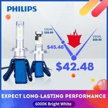 Philips H4 LED H7 H11 H8 H16 HB3 HB4 HIR2 9012 LED araba kafa lambası ampulleri 6000K sis farları luces led para oto diyot lambaları arabalar için