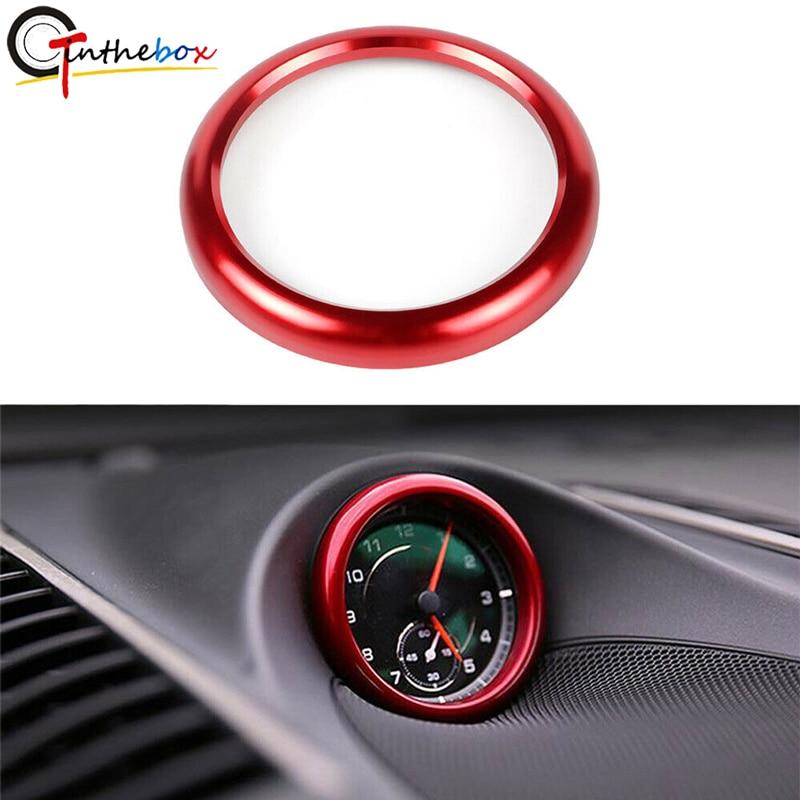 GTinthebox Matte Red Dashboard Center Clock Trim Compass Cover Ring For 2008-2019 Porsche 911