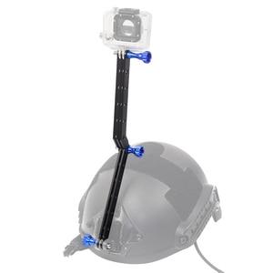 Image 4 - BGNing Aluminum Alloy Mount Helmet Arm Extension Pole + Screw Selfie Stick for Gopro SJCAM for AKASO EK7000 4K Action Camera