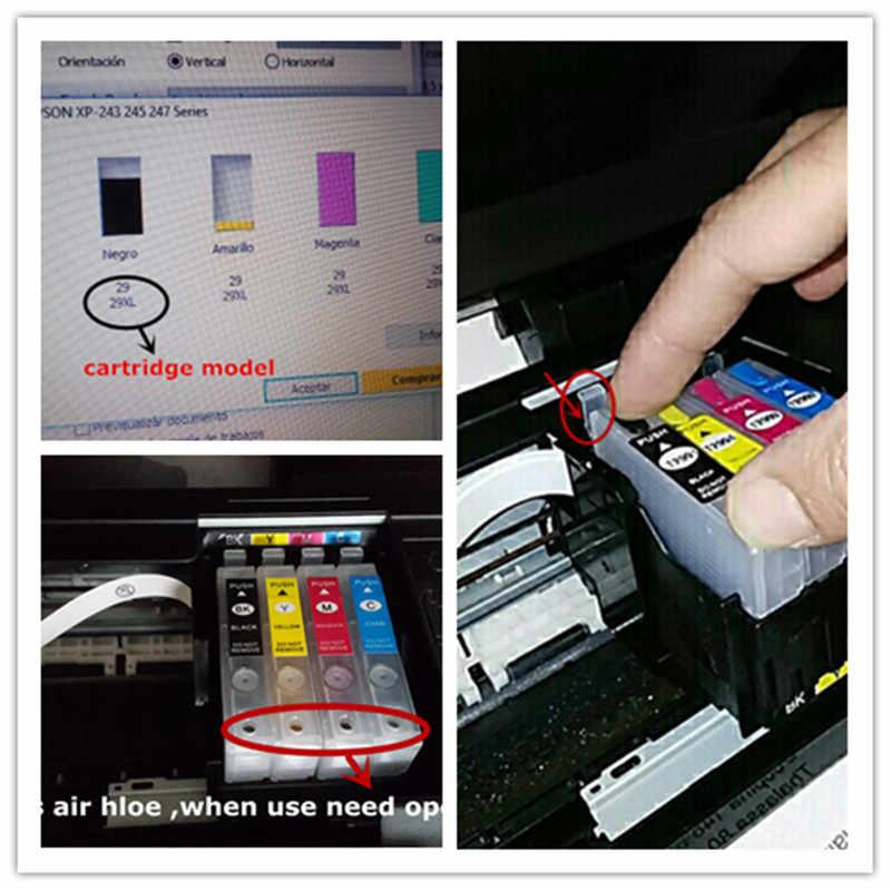 Tinta Isi Ulang Kit T1281 Isi Ulang Tinta untuk EPSON Stylus S22/SX125/SX130/SX230/SX235W/SX420W/SX425W SX430 Printer Tinta Dye