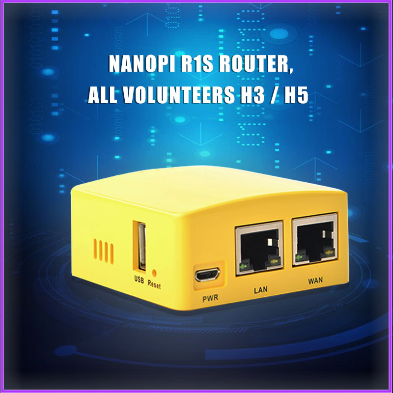 NanoPi R1S Router, Full H3/H5 Dual Gigabit Port 512M Of OpenWrt/LEDE Memory