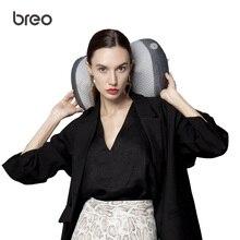 Массажная подушка breo Shiatsu, массажер для спины и шеи, разминающая массажная подушка с нагревом для шейного отдела плеч и талии