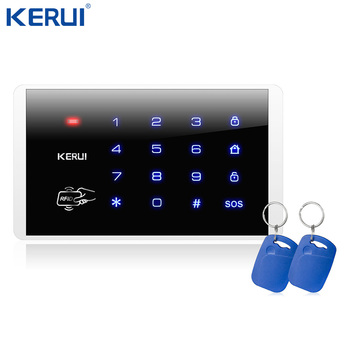 Kerui K16 bezprzewodowa klawiatura dotykowa RFID dla Wifi PSTN GSM domowy System alarmowy System alarmowy 433MHz tanie i dobre opinie all Kerui Alarm Panel