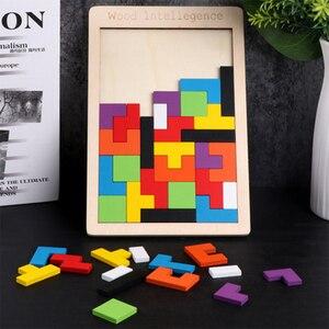 Головоломки волшебный Tangram Детские деревянные развивающие игры lol Hobby Детские пазлы тетрис кубики Пазлы детские игрушки для мальчиков и дев...