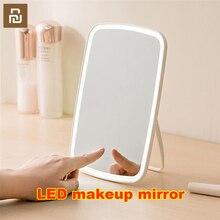 Original youpin inteligente led portátil espelho de maquiagem desktop luz led portátil dobrável espelho dormitório desktop